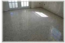 a clean concrete floor